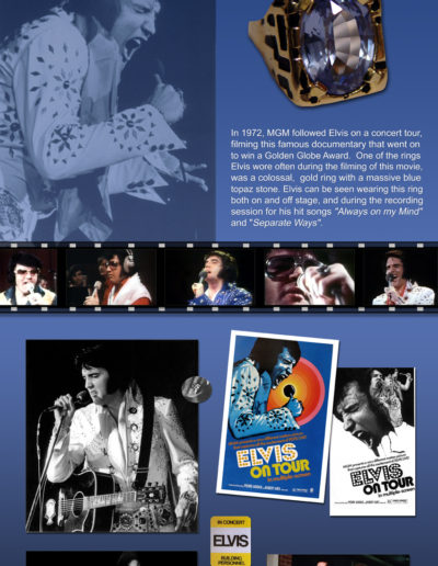elvis on tour ring